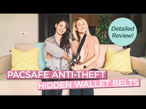 Pacsafe Anti-Theft Hidden Waist Wallets For Travel - CASHSAFE 25 And COVERSAFE V100 Review