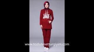 Tozlu Giyim Tesettür Eşofman Takımları Eşortman Modelleri