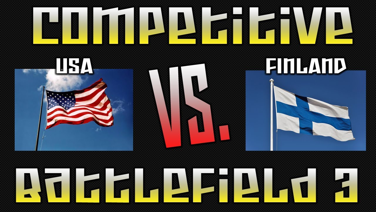BF3: (Round 3) 12 v 12 PS3 World Tournament Multi POV - USA vs Finland