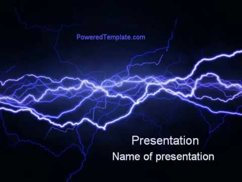Lightning in the night sky powerpoint template by poweredtemplate lightning in the night sky powerpoint template by poweredtemplate toneelgroepblik Gallery