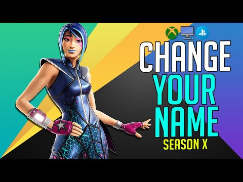 HOW TO CHANGE YOUR FORTNITE NAME In 2019 (XBOX, PS4, PC)