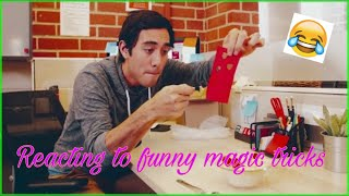 Reacting to funny magic tricks