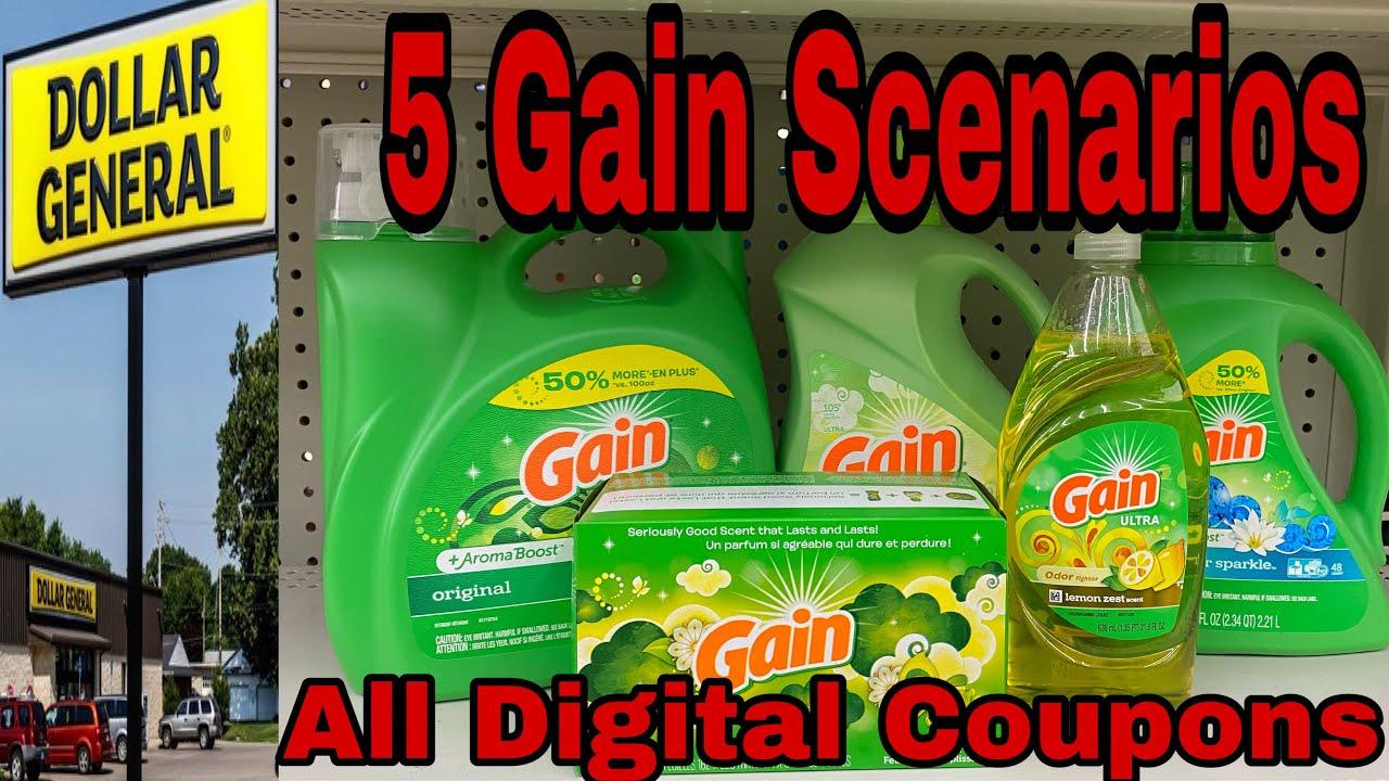 Dollar General Gain Scenarios For 9 27 10 3 All Digital Coupons 5 Scenarios Super East Deal Youtube