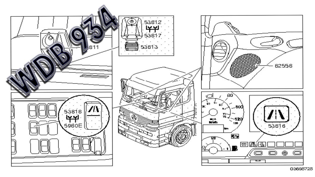 mercedes benz actros wdb 934, electrical system, equipment and instruments mercedes actros gear shift actros gm fuse box fav wiring diagram