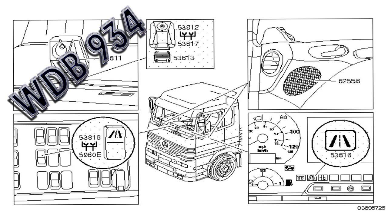 Mercedes Benz Actros   WDB 934  Electrical system