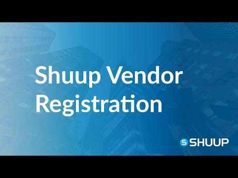 Shuup Vendor Registration