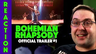 REACTION! Bohemian Rhapsody Trailer #1 - Rami Malek QUEEN Movie 2018