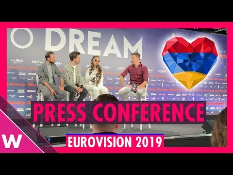 "Armenia Press Conference: Srbuk ""Walking Out"" @ Eurovision 2019 second rehearsal"