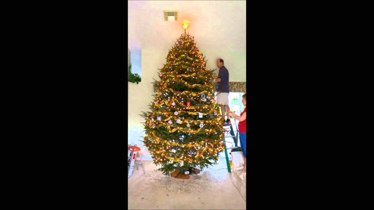 12 Foot Christmas Tree Decorated In 12 Hours Shown In Less