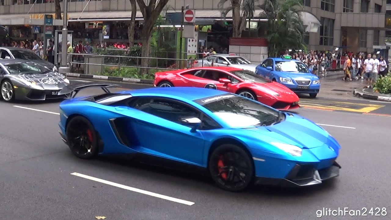 Lamborghini Convoy Revving Up Orchard Road
