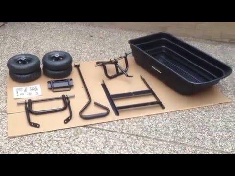 Gorilla Carts GOR200B Poly Garden Dump Cart Assembly Video