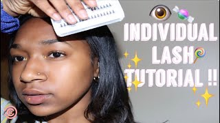 HOW TO APPLY| VLUXE INDIVIDUAL LASHES !!