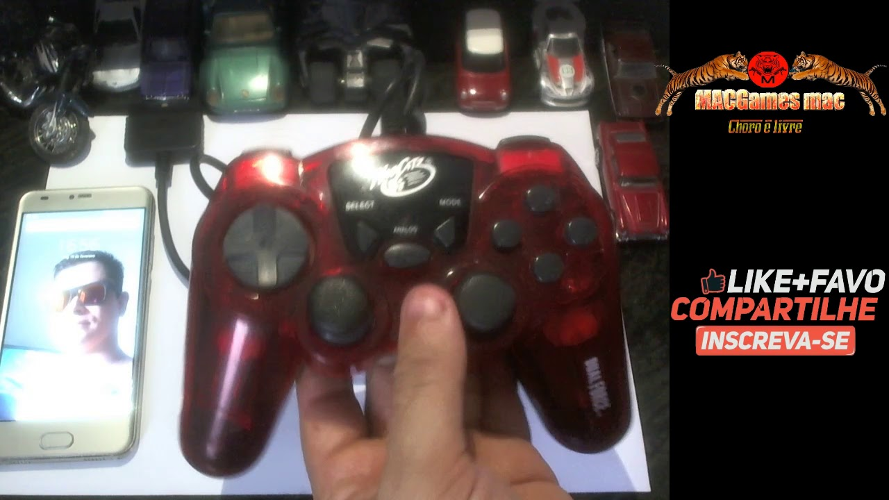 Playstation 1 & 2 Madcatz Dual Force Wired Controller, Red BR