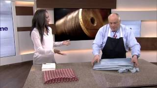 How To Fold A Round Table Cloth
