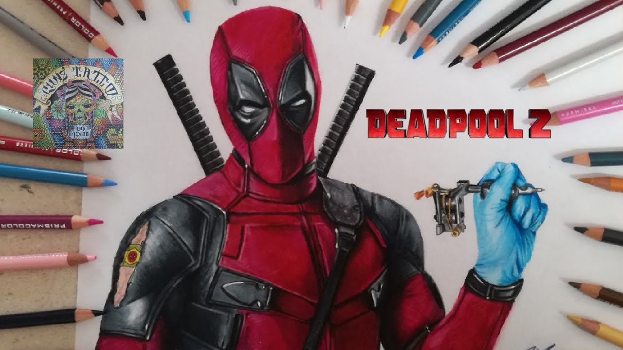 Dibujos Para Colorear Deadpool: COMO DIBUJAR A DEADPOOL 2 (REALISTA)