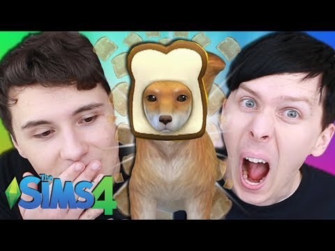 DRESSING UP OUR DOG - Dan and Phil Play: Sims 4 #47