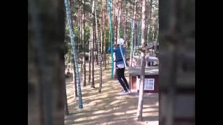 Przygoda w parku linowym dla dzieci w Spychowie video