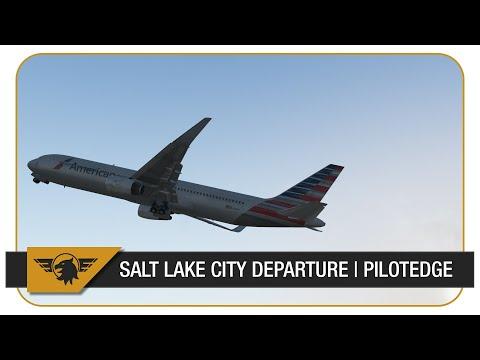 [X-PLANE 11] AMERICAN AIRLINES 767-300ER   KSLC (SALT LAKE) DEPARTURE   FLIGHTFACTOR 767   FULL ATC