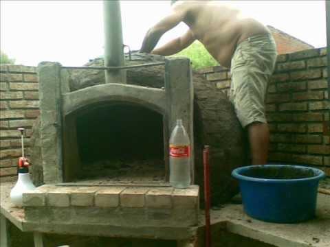 Como construir un horno de barro 2 youtube for Como construir un horno