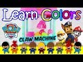 Claw Machine Paw Patrol, Learn Colors With Surprise Eggs Toys - Learn Colors For Babies And For Kids