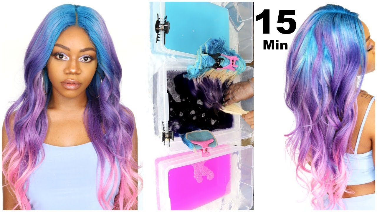 Watercolor Unicorn Hair 15 Minute Hair Color Foolproof Ombre