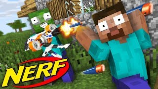 Monster School: NERF WAR GAME SUPER SOAKER EDITION - Minecraft Animation