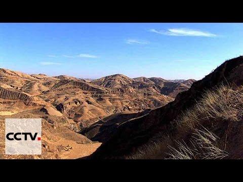 Sur le plateau de loess, se trémie le chanceux district de Jixian