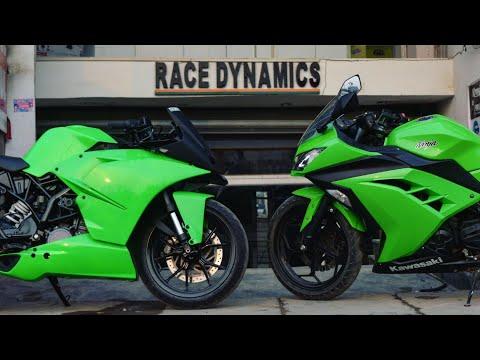 KTM RC200 in Kawasaki Green | CBR Fireblade super loud Exhaust