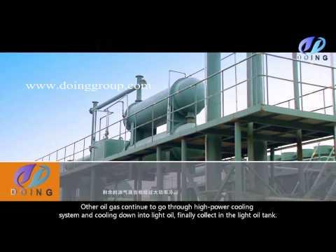 Henan DOING GROUP disposal waste tire oil pyrolysis machine vedio