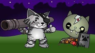 ЗОМБИ КОТЫ Вылезли из МОГИЛ Игровой Мультик для Детей Ударный отряд Котят