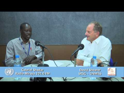 UNMISS new SRSG David Shearer's interview with Radio Miraya 101.0 FM