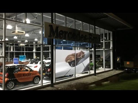 ADS - Switchable Smart Film on Mercedes Dealer windows