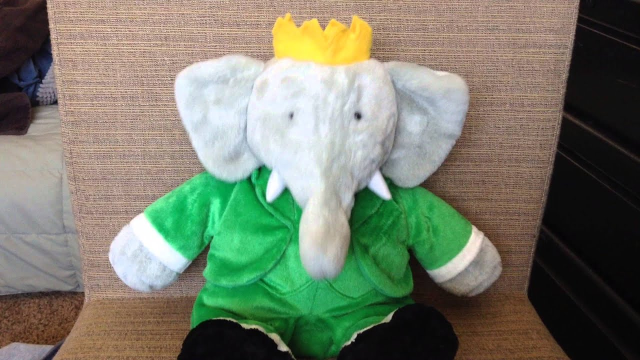 Talking Moving Babar Elephant Plush Toy Speaks French I Learn With