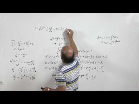 Lec 12-  Solution of second order differential equations by changing dependent variable