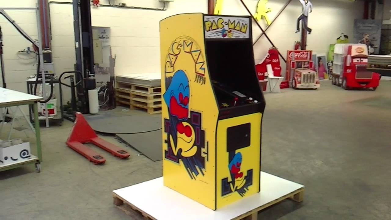 Cardboard Pac-Man Arcade Cabinet - preview - YouTube