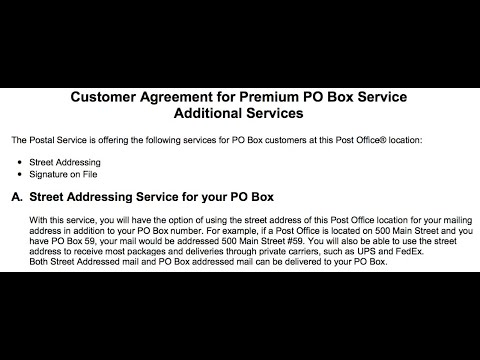 NEW! USPS Po Box REAL Street Address
