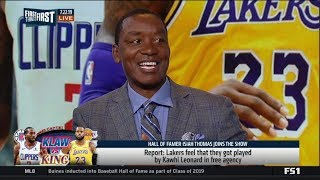 FIRST THINGS FIRST | Isiah Thomas ANALYSIS Lakers feel that they got played by Kawhi in free agency