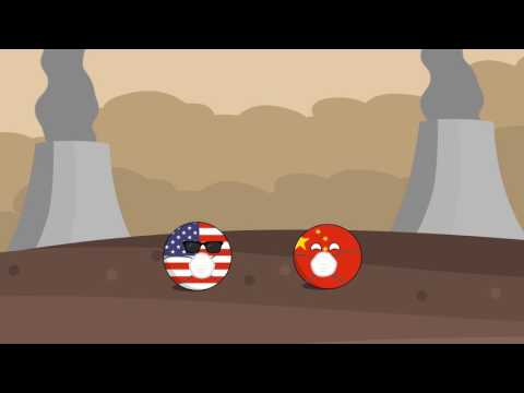 Countryball animation: global warming