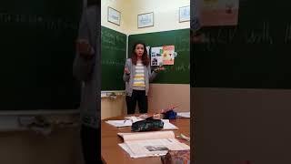 """Защита страноведческого проекта по теме """"Испания"""" на уроке английского языка"""