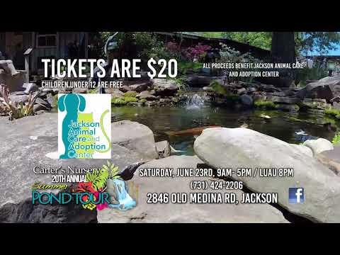 20th. Annual 'Parade of Ponds' | Carters Nursery, Pond & Patio | Jackson, TN