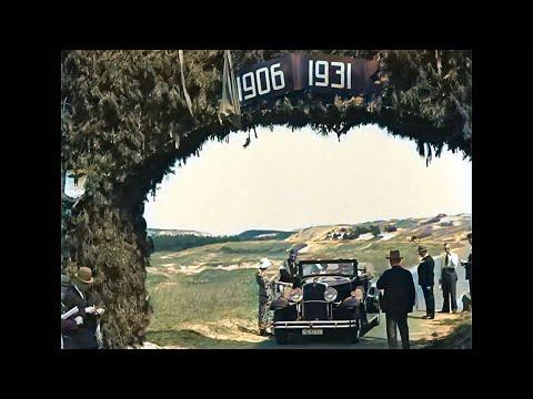 Bergen aan Zee viert 25 jarig bestaan -  juni 1931 - in kleur