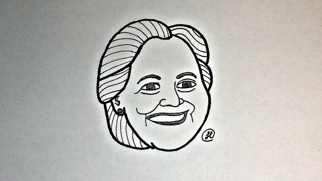 Excellent Drawing Hillary R. Clinton's Head - YouTube IG06