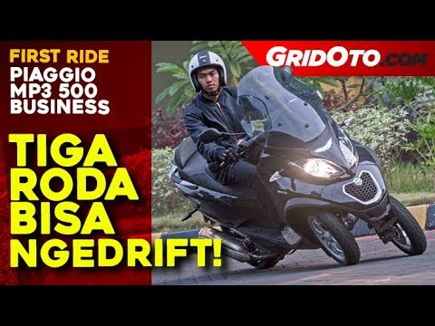 First Ride Review Piaggio MP3 500 Business, Bisa Dipakai Ngedrift!