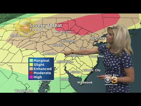 Tuesday Mid-Day Weather Forecast: Severe Weather Threat