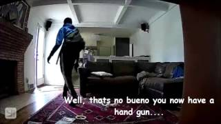 Guy's Home Camera Catches A Thief Who Breaks Into His House And Makes A Movie Of What Happens