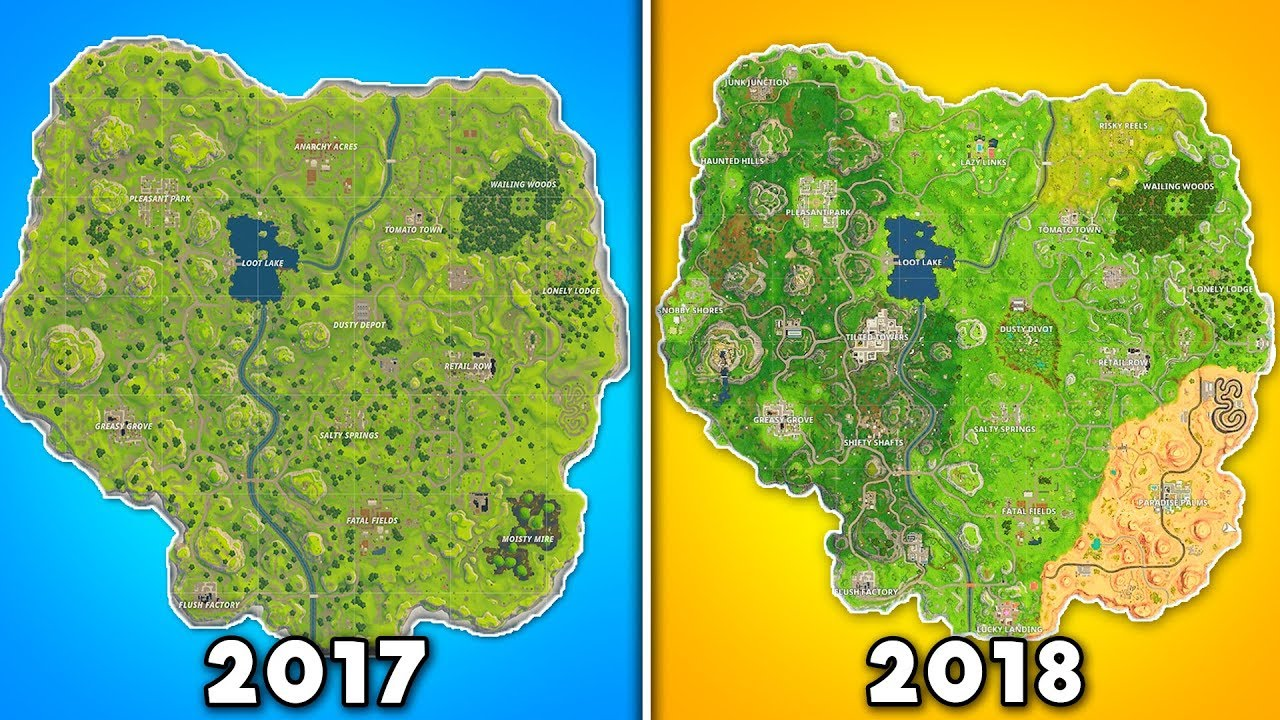 Evolution Of The ENTIRE Fortnite Map (Fortnite 2017