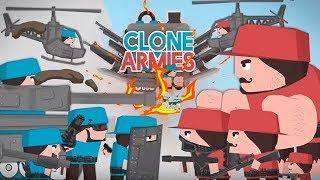Война Клонов Clone Armies Учимся управлять Клонами! Обзор игры Детское видео Let's Play