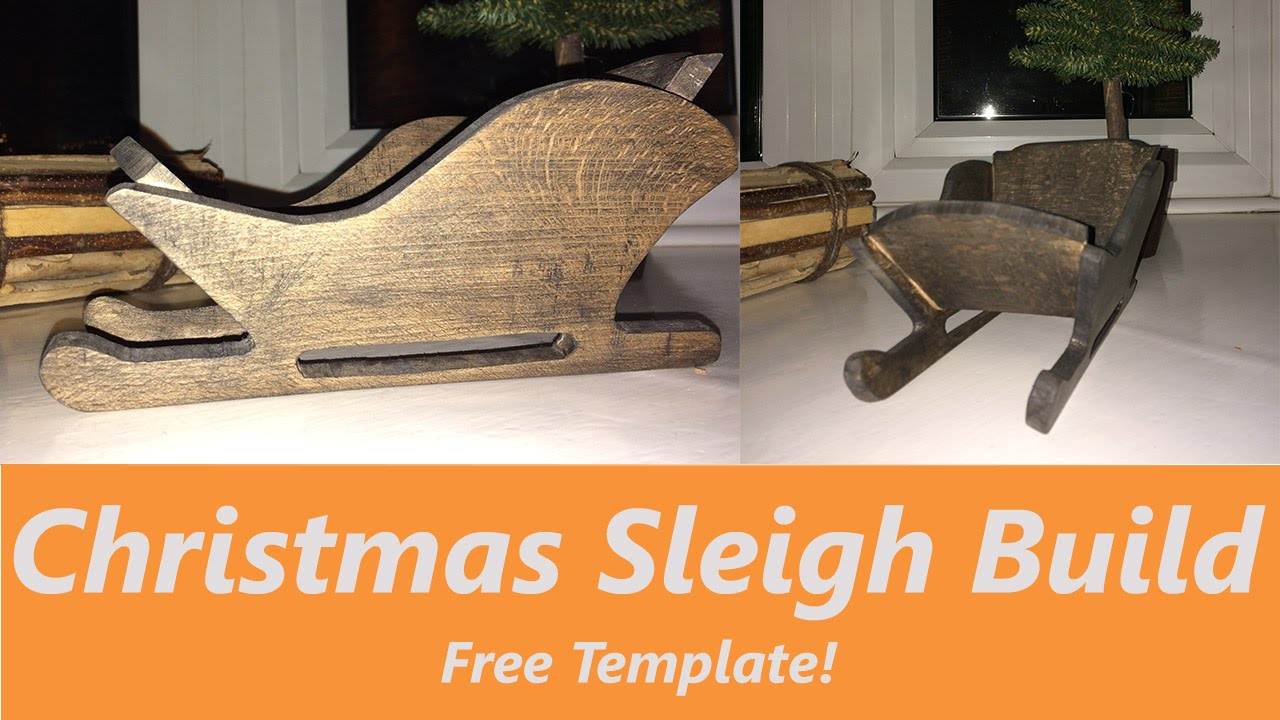 how to make a wooden christmas sleigh decoration youtube