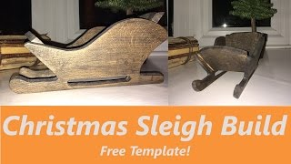 How To Make A Wooden Christmas Sleigh Decoration✔