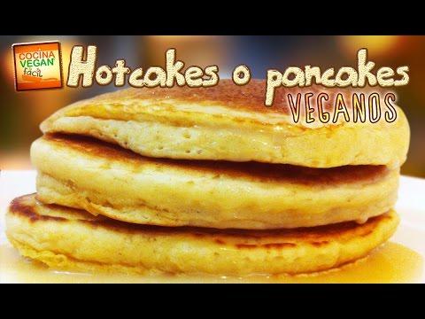 Hotcakes o pancakes veganos - Cocina Vegan Fácil